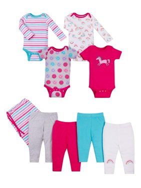 Star-Pack Mix 'n Match Outfits, 8pc Gift Bag Set (Baby Girls)
