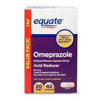 Equate Acid Reducer Omeprazole Capsules, 20.6 mg, 42 Count, 3 Pack
