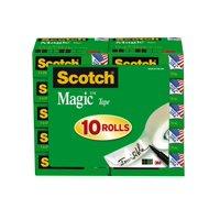 Scotch Magic Office Tape Refill 10 pack, 3/4 in. x 800in., Clear