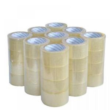 Heavy Duty Strapping Tape - Heavy Duty Sealing Packing Tape - 12 Rolls, 2.1mil thick, 55 Yards, 165Ft