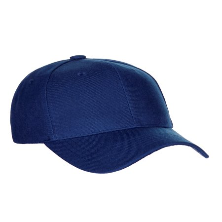 - men's basic baseball cap velcro adjustable curved visor hat