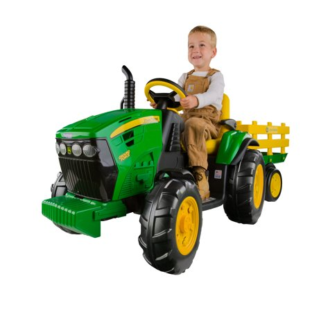 Peg Perego John Deere Ground Force 12-volt Tractor (Black Tractor)