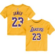 premium selection 69b7f 57e56 LeBron James Los Angeles Lakers Nike Preschool Name   Number T-Shirt - Gold  -