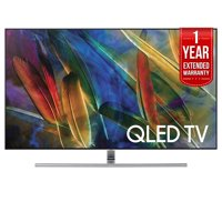 Samsung QN75Q7FAM Flat 75-Inch 4K Ultra HD Smart QLED TV (2017 Model) with 1 Year Extended Warranty