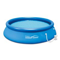 """Summer Waves Above Ground Swimming Pool with Filter Pump System, 12' x 30"""""""