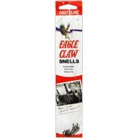 Eagle Claw Plain Shank Snell Fish Hook, Size 8