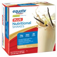 Equate Nutritional Shake Plus, Vanilla, 8 Oz, 16 Ct