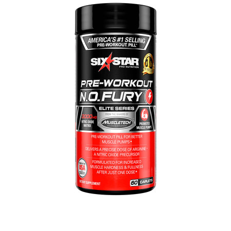 Six Star Pro Nutrition Pre Workout N.O. Fury Capsules, 60