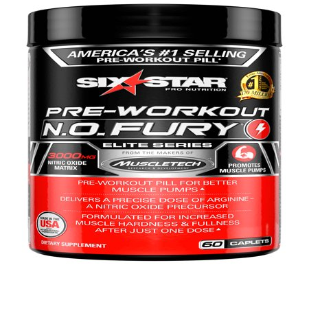 Six Star Pro Nutrition Pre Workout N.O. Fury Capsules, 60 Ct