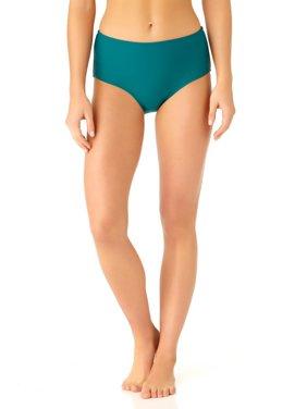 Catalina Women's Teal High Waist Swim Bottom