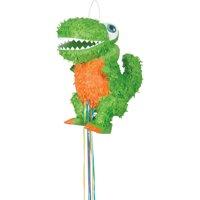 T-Rex Dinosaur Pinata, Pull String, 15.5 x 15in