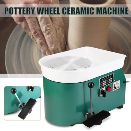 USA 110V 25CM Electric Hand & Foot Pottery Wheel Machine Ceramic Work Clay Craft-14