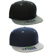 L.O.G.A Plain Flat Bill Visor Blank Snapback Hat Cap with Adjustable Snaps