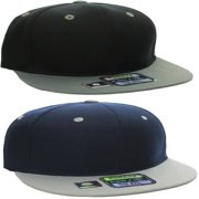 L.O.G.A Plain Flat Bill Visor Blank Snapback Hat Cap with Adjustable Snaps