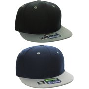 L.O.G.A Plain Flat Bill Visor Blank Snapback Hat Cap with Adjustable Snaps 56b637693993