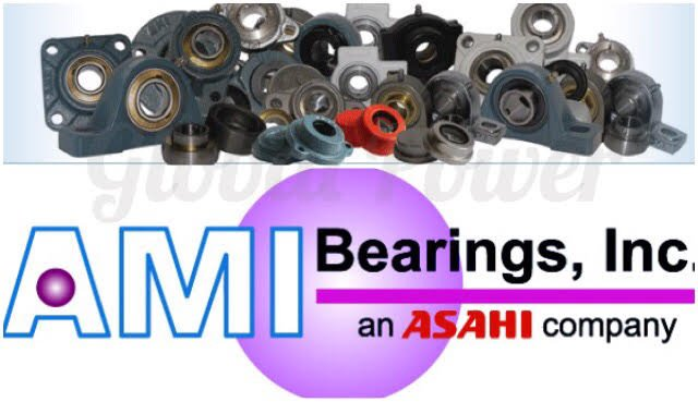 "AMI: UCHPL207-20W, 1-1/4"" WIDE SET SCREW WHITE HANGER BEARING, FACTORY NEW!"