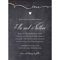 Script Love Standard Wedding Invitation