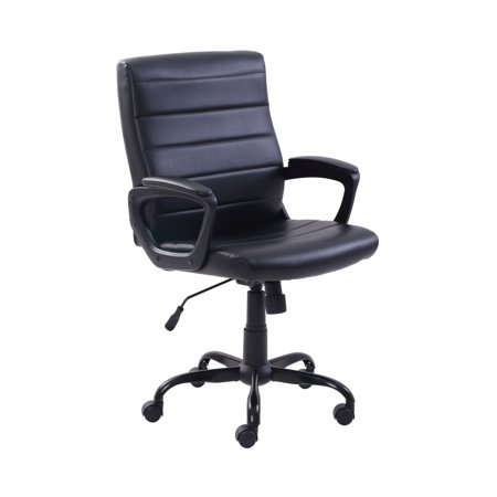 Walmart office chair Backed Office Mainstays Bonded Leather Midback Managers Office Chair Adjustable Multiple Colors Walmartcom Walmart Mainstays Bonded Leather Midback Managers Office Chair Adjustable