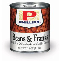 (6 Pack) Phillips With Beef And Tomato Sauce Beans & Franks, 7.5 Oz