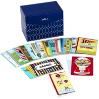 Hallmark All Occasion Boxed Greeting Card Assortment, 20-ct. with Dividers (Navy & White Geometric)