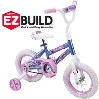 "Huffy 12"" Sea Star Girls' EZ Build Bike for Kids, Blue"