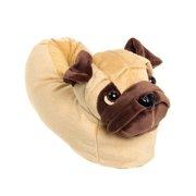 002c43052ef Silver Lilly Pug Dog Novelty Plush Animal Costume Slippers