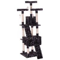 """67"""" Large Pet Kitty Play House Cat Tree Tower Condo Furniture Scratching Post Gray"""