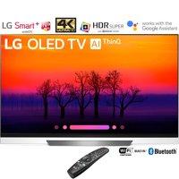 "LG OLED55E8PUA 55"" Class E8 OLED 4K HDR AI Smart TV (2018 Model) – (Certified Refurbished)"