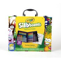 Crayola Silly Scents Mini Inspiration Art Case, Scented Markers And Crayons, Art Supplies, Over 50 Pieces
