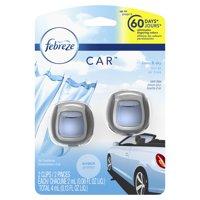 Febreze Car Air Freshener Vent Clips, Linen & Sky, 2 Count