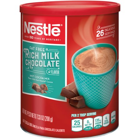 NESTLE Fat Free Rich Milk Chocolate Hot Cocoa Mix 7.33 oz. Canister ()