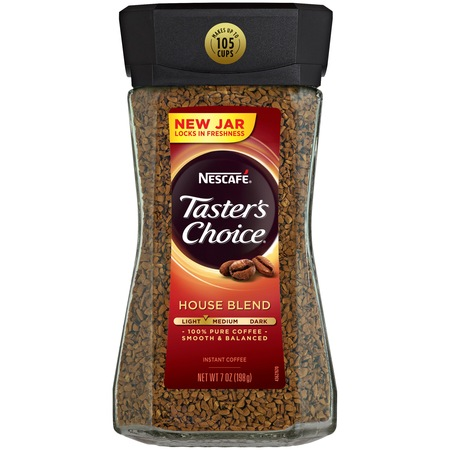 (2 Pack) NESCAFE TASTER'S CHOICE House Blend Medium Light Roast Instant Coffee 7 oz.