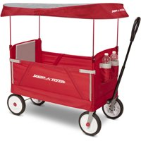 Radio Flyer, 3-in-1 EZ Fold Wagon with Canopy, Model #3951, Red