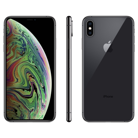Straight Talk Apple iPhone XS MAX w/64GB, Gray (Phone Htc One Max Unlocked)