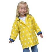 2c10288359f1 Foxfire Little Girls Yellow White Polka Dotted Print Trendy Raincoat 1T-6