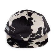 ed2c01a0272 Supreme Velveteen Cow Print Snapback 5-Panel Hat Black White FW15H21