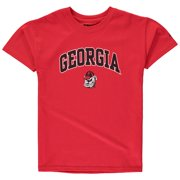 Youth Russell Red Georgia Bulldogs Team 1 Crew Neck T-Shirt 68e5ce563