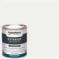 ColorPlace, Exterior Paint, White, Semi-Gloss, 1 Quart
