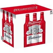 Budweiser Lager Beer, 20 pack, 16 fl oz