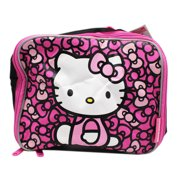 9646dfc0f Hello Kitty Wall of Pink Bows Black/Pink Colored Insulated Lunch Bag