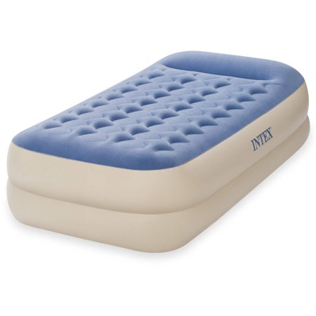 "Intex Twin 18"" Dura-Beam Standard Raised Pillow Rest Air Mattress"