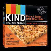 (2 Pack) KIND Healthy Grains Granola Bar, Peanut Butter Dark Chocolate, 5 Bars, Gluten Free, Healthy Grains Bars