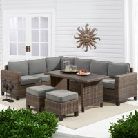 Better Homes & Gardens Brookbury 5-Piece Patio Wicker Sectional Set