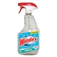 (2 pack) Windex Glass Cleaner Trigger Bottle, Vinegar, 32 fl oz