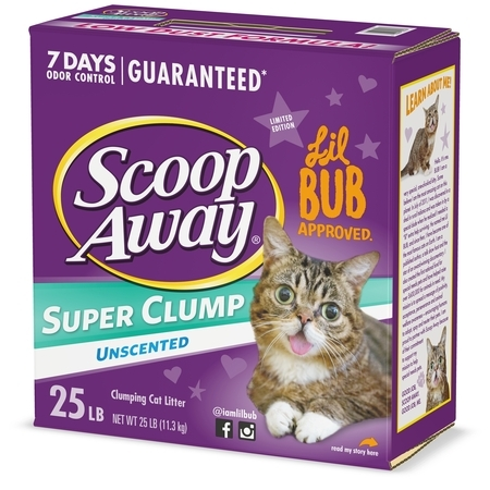 Scoop Away Super Clump Clumping Cat Litter, Unscented, 25