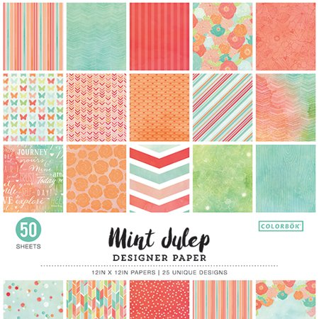 Retro Art Scrapbooking Paper - Colorbok 12