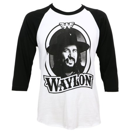 Tour Raglan (Waylon Jennings Men's '79 Tour Raglan T-Shirt White)