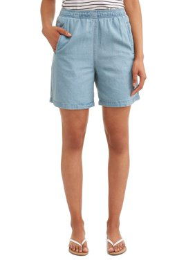 Women's Pull On Denim Classic Shorts