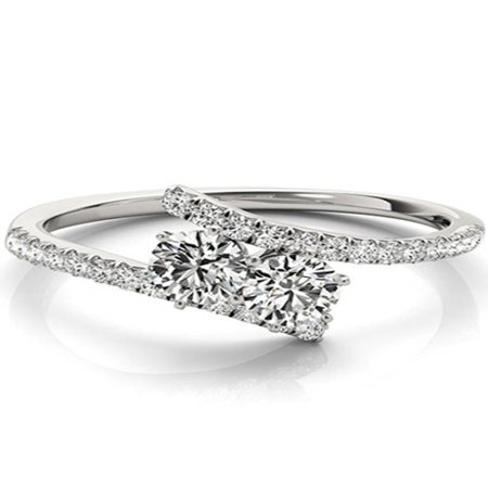 1.25 ct Two Stone Diamond Forever Us Engagement Ring Solitaire 14k White Gold 2 Ct Diamond Solitaire Engagement Ring