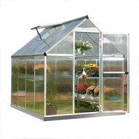 Palram Mythos Greenhouse - 6' x 8' - Silver